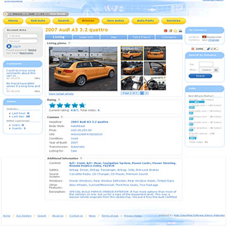 Auto Classifieds Website Design CMS|website design