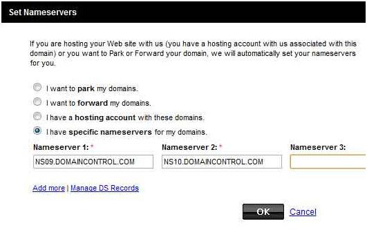 GoDaddy Change DNS Servers
