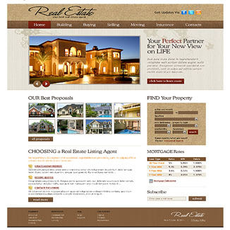 Real Estate Design CMS|website design